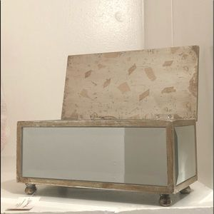 home interios mirrored jewely box